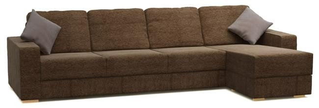 Holl 4 Seat Very Large Chaise Corner Sofa Nabru Inside Large 4 Seater Sofas (View 9 of 15)