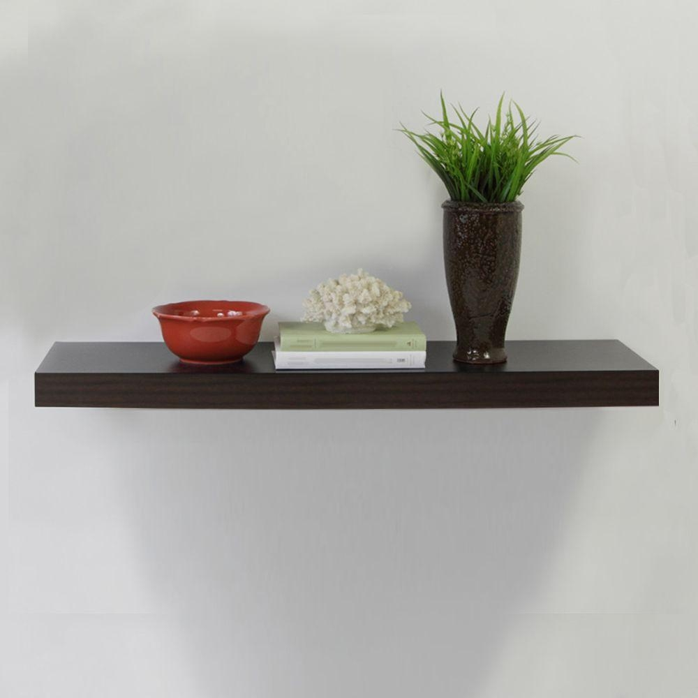 Home Decorators Collection 236 In W X 102 In D X 2 In H Regarding Floating Shelves (#10 of 12)