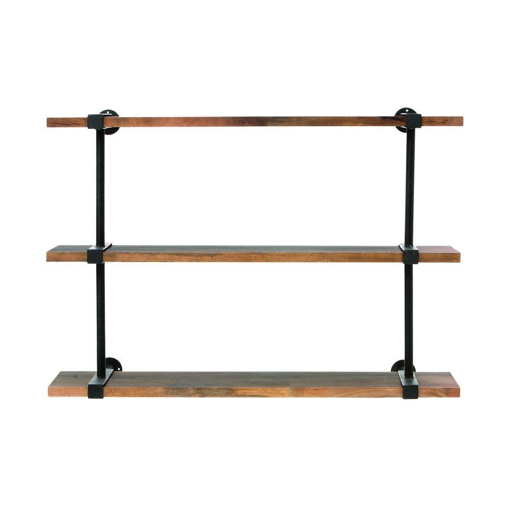 Home Decorators Collection Studio 40 In W Wood Craft Wall Shelf Intended For Wall Shelf (#4 of 12)