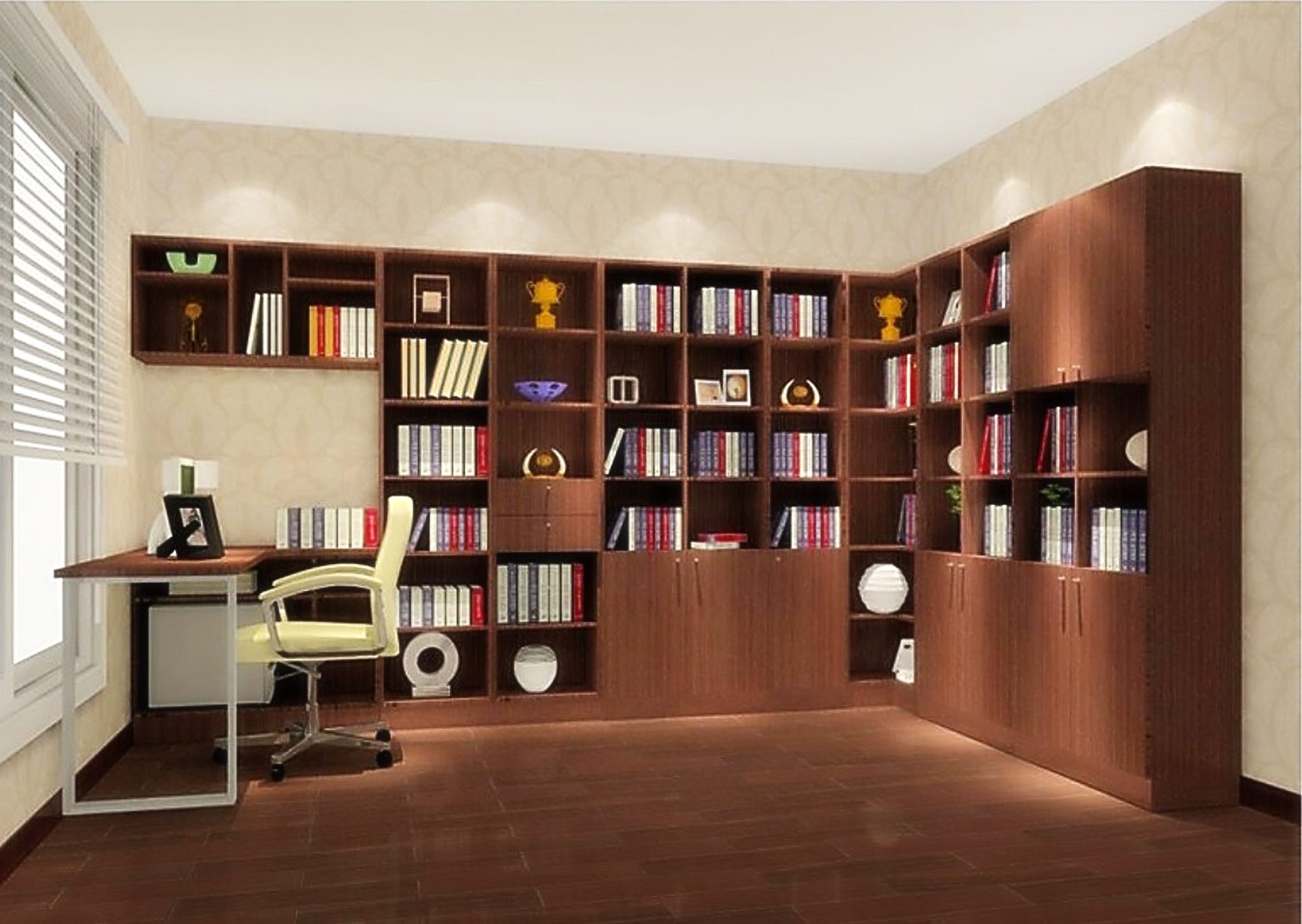 15 best collection of study wall unit designs Home study room ideas