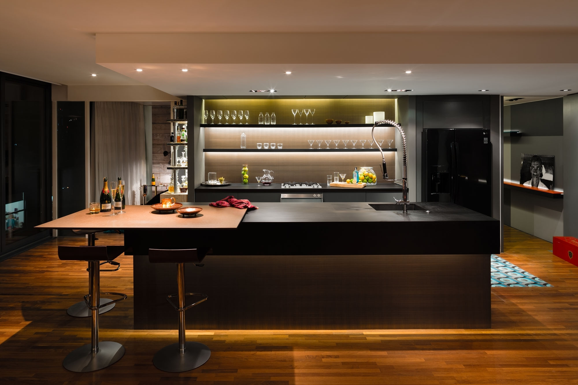Home Design Floating Glass Bar Shelves Cabinetry Electrical With Floating Glass Shelves For Bar (View 7 of 15)