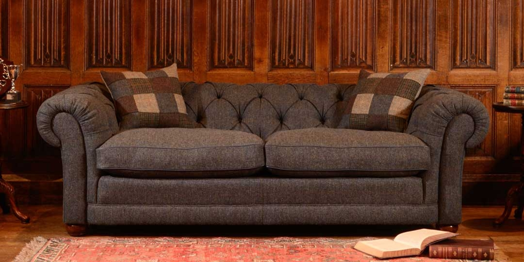 15 best collection of tweed fabric sofas for Leather and tweed sofa