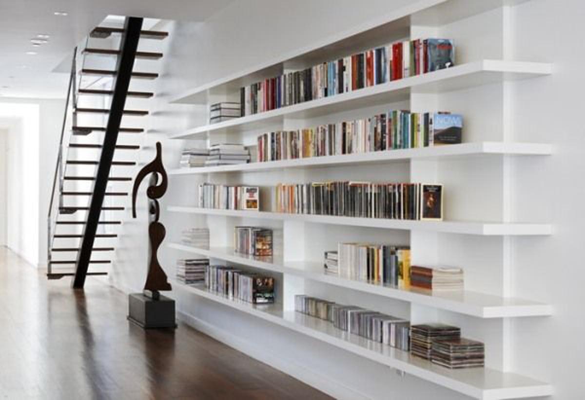 Home Library Ideas Arredi E Rivestimenti Arredamento Zona Giorno With Library Shelves For Home (#8 of 15)