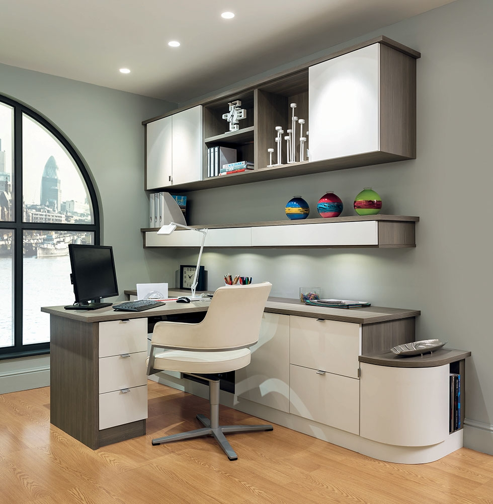 Home Office Study Furniture Costa Maresme With Fitted Home Office Furniture (View 8 of 15)