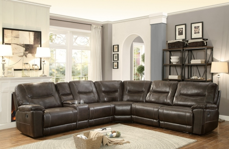 Homelegance Columbus Reclining Sectional Sofa Set A Breathable Within Recliner Sectional Sofas (View 9 of 15)