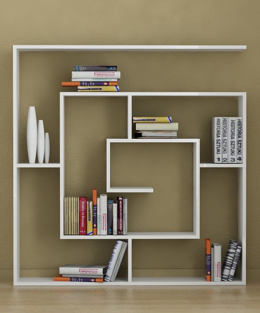 Homemade Bookshelves To Save Your Money Creative White Homemade With Unique Bookcase Designs (#12 of 15)