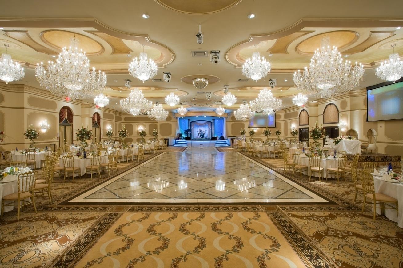 Hotel Ballroom Crystal Chandeliers Restaurant New York Throughout Ballroom Chandeliers (#7 of 12)