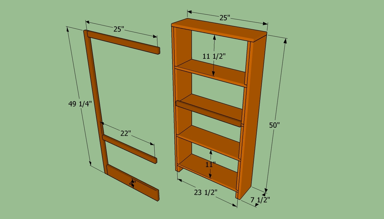 How To Build A Bookcase Wall Howtospecialist How To Build Throughout Build Bookcase Wall (#7 of 15)