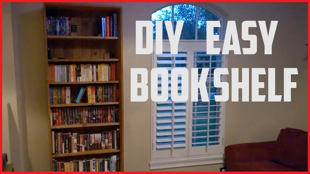 How To Build A Bookshelf Diy Project Youtube Intended For Build Bookcase Wall (#10 of 15)