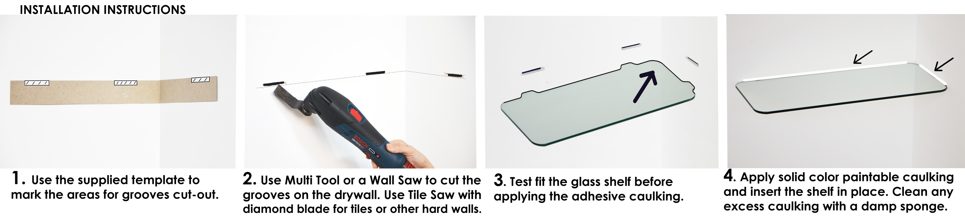How To Install Floating Shelves Floating Glass Shelves Store Regarding Floating Corner Glass Shelves (#10 of 12)