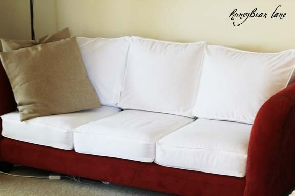 How To Make A Cushion Cover And Other Slipcover Tutorials Regarding Sofa Settee Covers (#11 of 15)