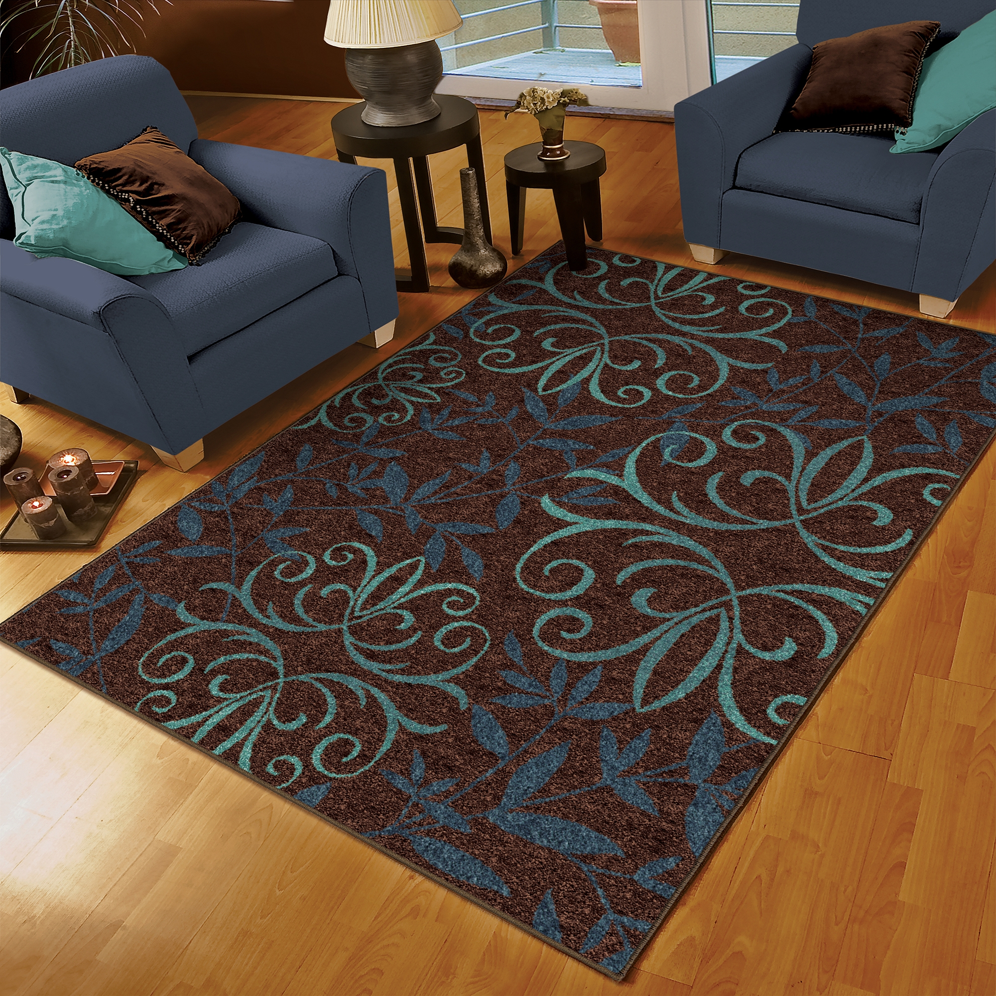 rugs dark rug x rectangle seascape area nautical blue p