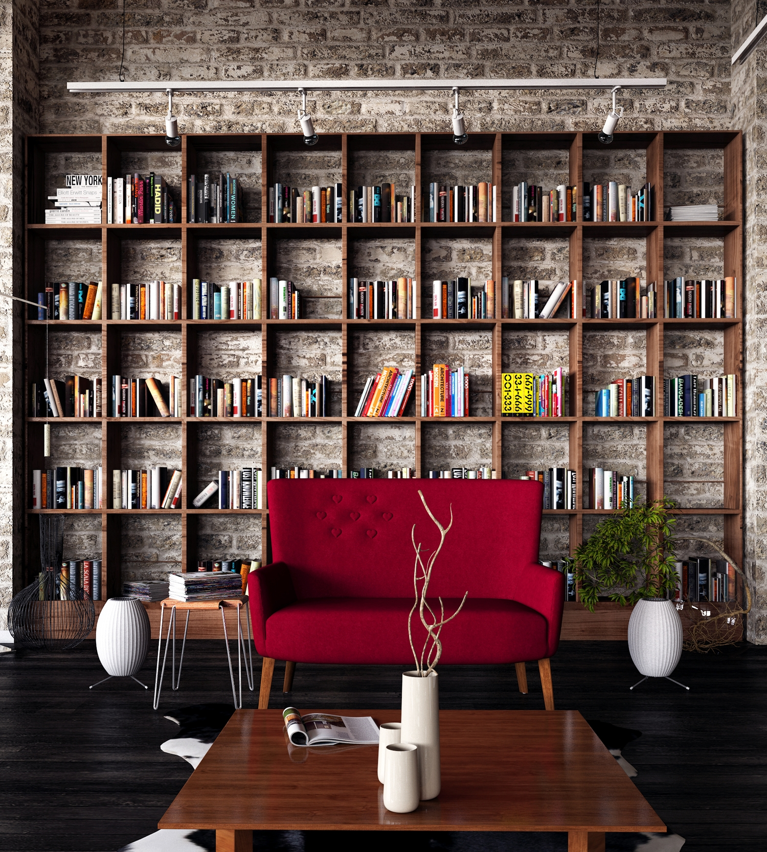Huge Bookshelf Loft 2 Loft Interiors Pinterest Industrial In Huge Bookshelf (#8 of 15)