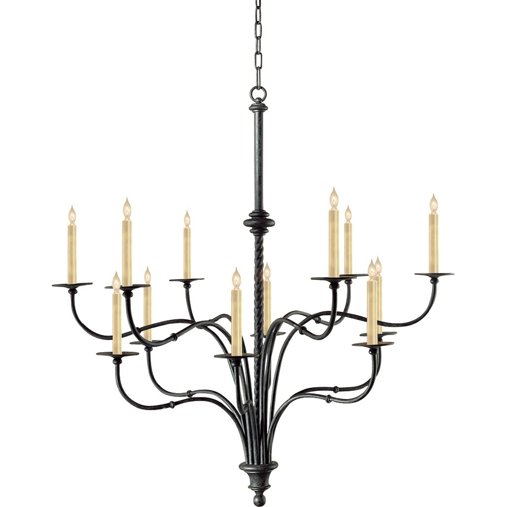 Ideas For Black Iron Chandelier Design 20024 Throughout Large Iron Chandelier (#7 of 12)