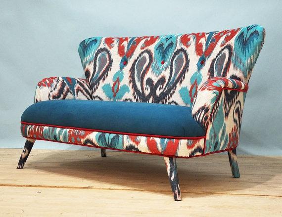 Ikat 2 Seater Sofa Ikat And Etsy Intended For Etsy Sofas (#9 of 15)