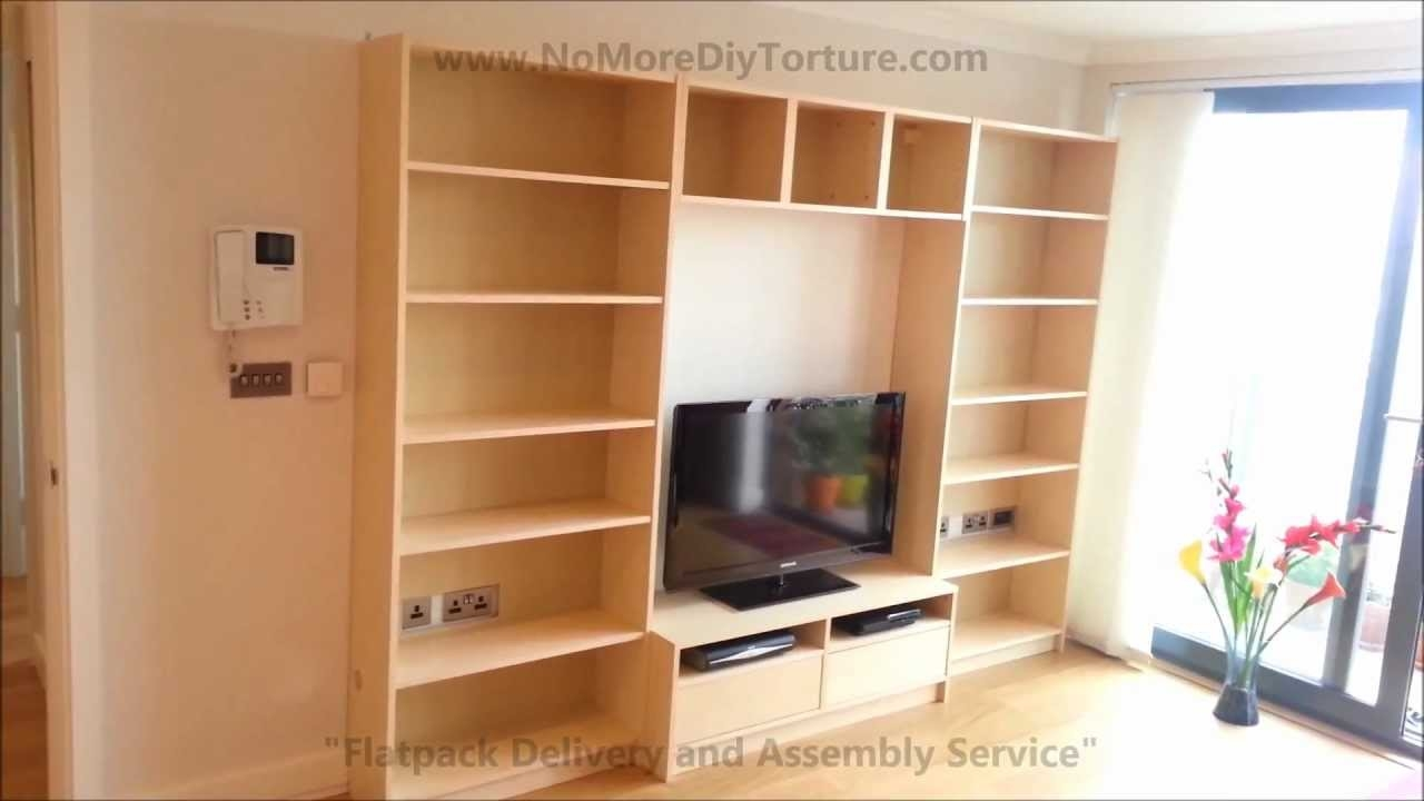 Ikea Billy Benno Tv Stand With Storage Youtube For Tv Bookcase Combination (#8 of 15)
