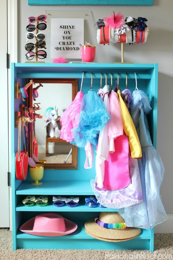 Ikea Billy Bookcase Hack Diy Dress Up Closet Intended For Kids Dress Up Wardrobe Closet (View 12 of 15)