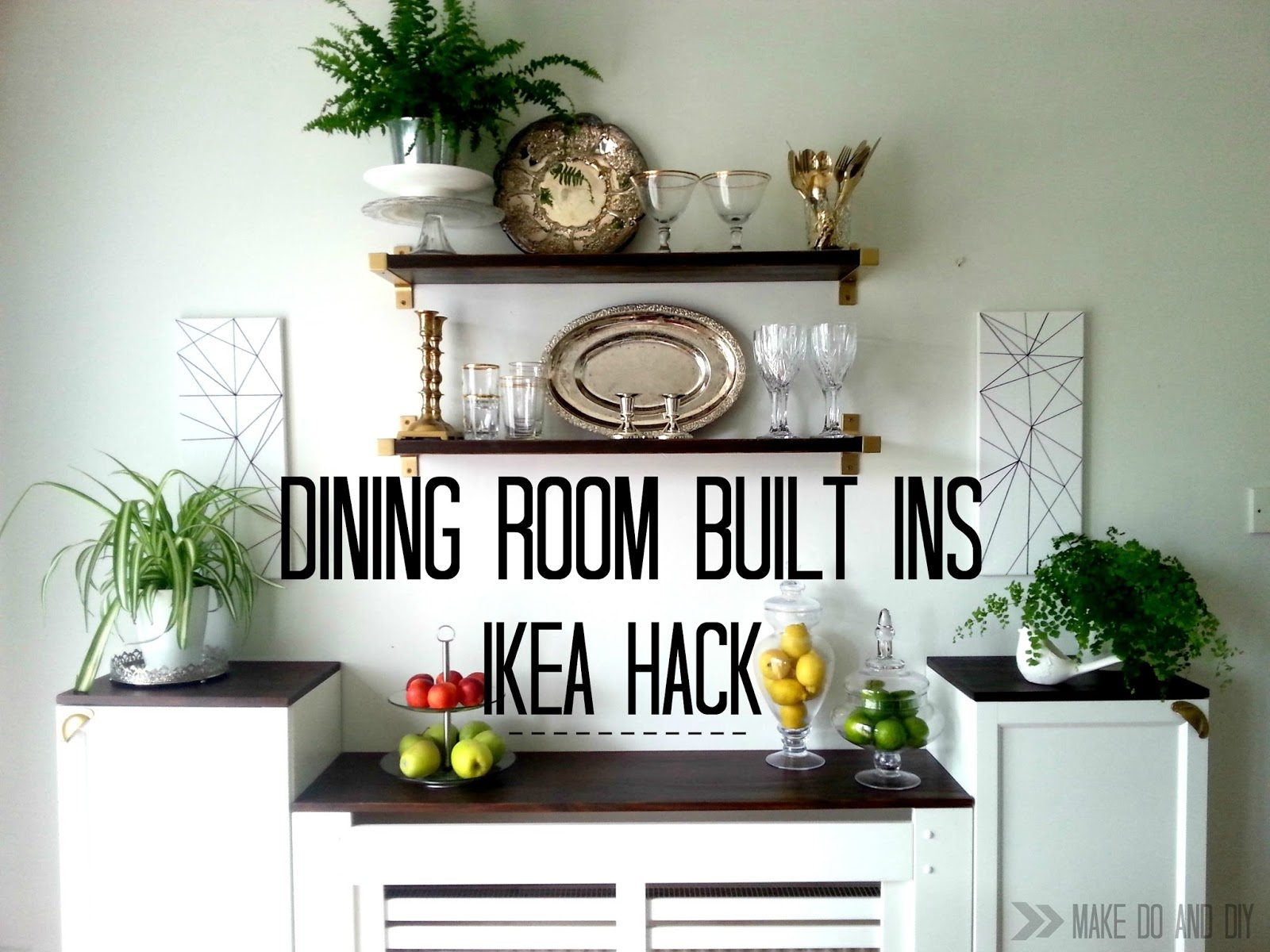 Ikea Hack For Built In Dining Room Storagewhen You Have To Work In Radiator Bookcase (View 15 of 15)
