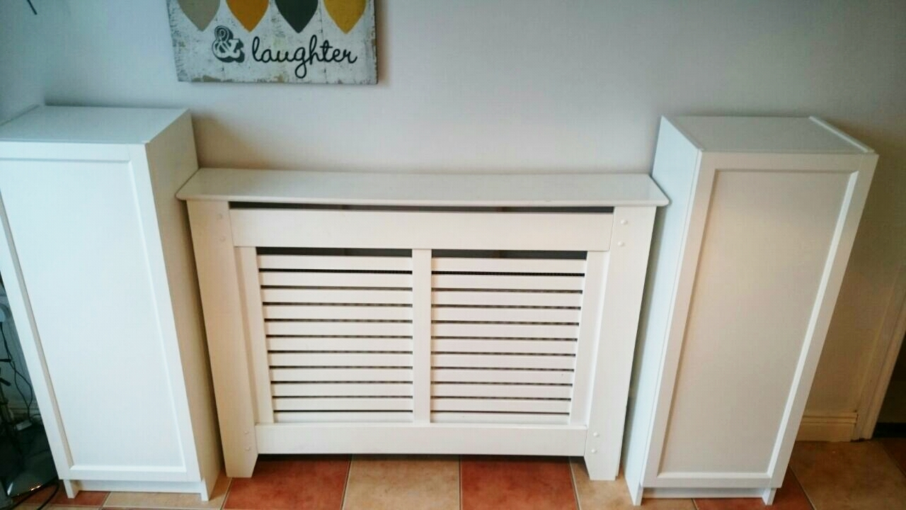 Ikea Hack For Built In Dining Room Storagewhen You Have To Work Within Radiator Covers And Bookcases (#7 of 15)