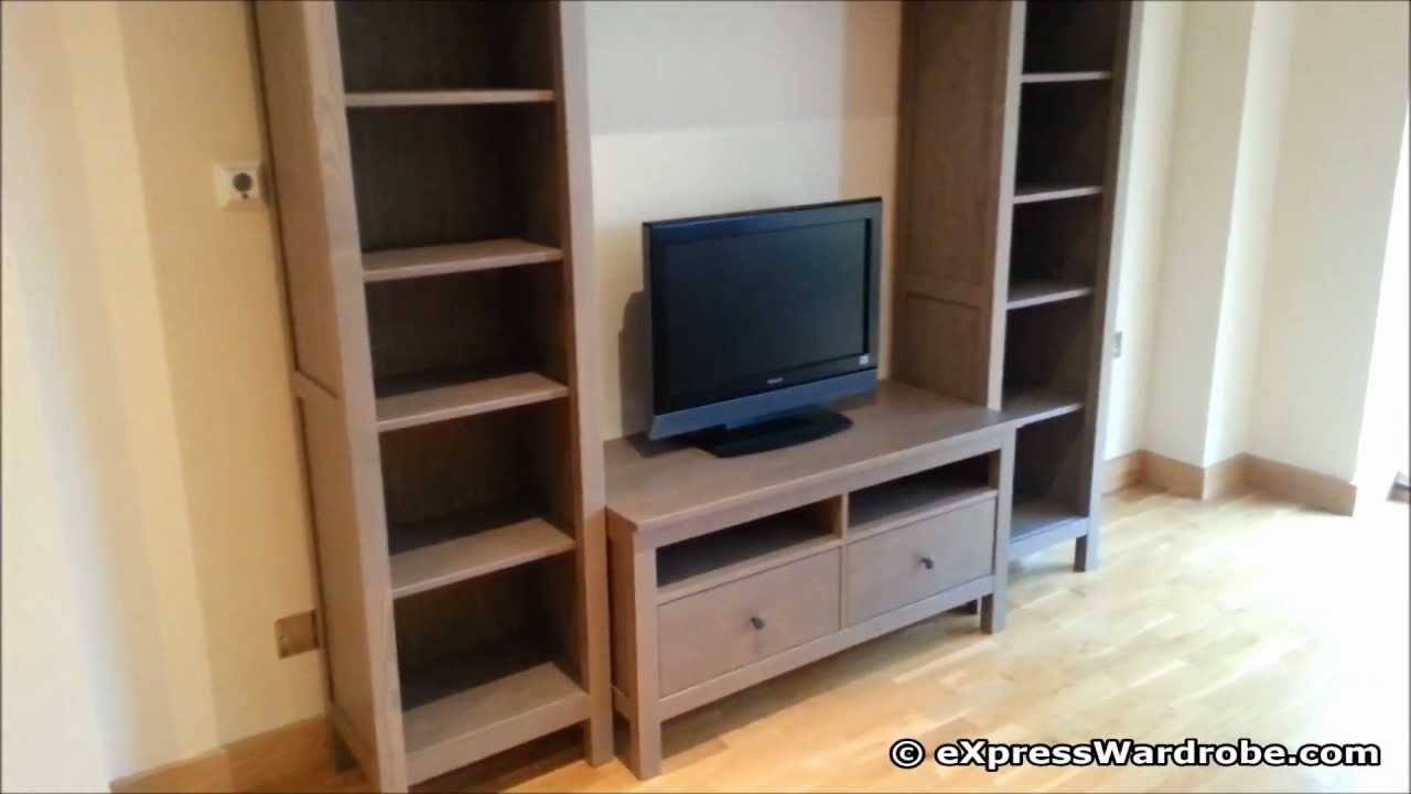Ikea Hemnes Bedroom Living Room Furniture Design Youtube Within Tv Bookcase Combination (#9 of 15)