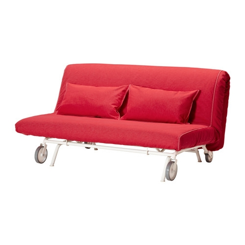 Ikea Ps Lvs Sofa Bed Ikea The Casters Make The Sofa Easy To Move Inside Red Sofa Beds IKEA (#6 of 15)