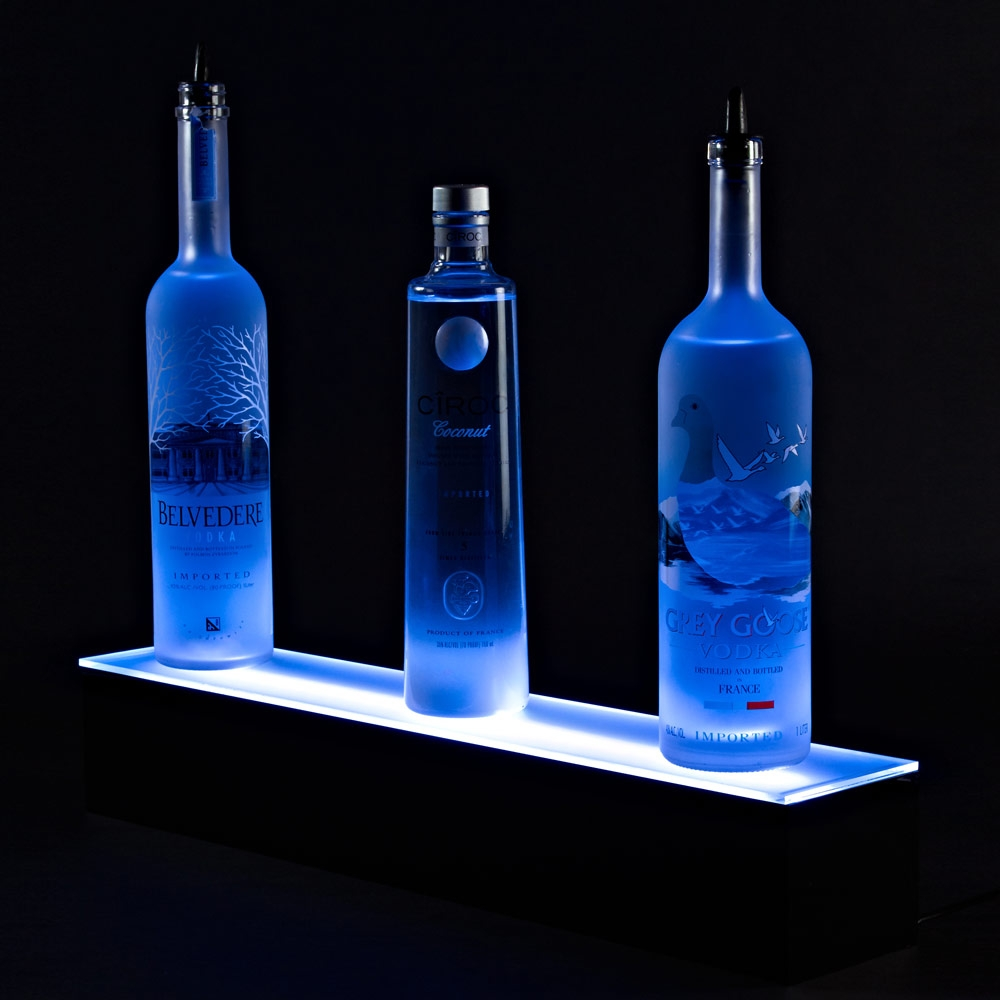 Illuminate Led Bar Shelf W Remote For Floating Glass Shelves For Bar (#10 of 15)
