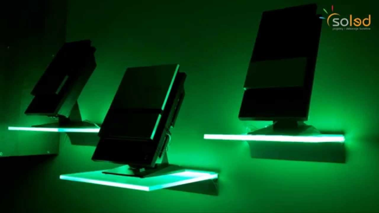 Illuminated Glass Shelves Led Shelves Made To Measure Youtube Pertaining To Glass Shelves With Lights (#4 of 12)
