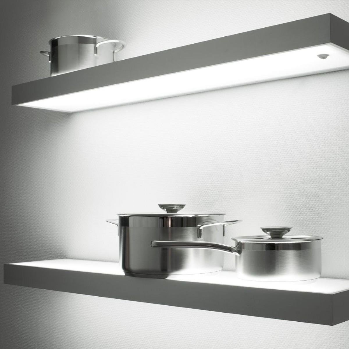 Illuminated Led Glass Box Shelf Shelf Lighting Kitchen For Illuminated Glass Shelf (#6 of 12)