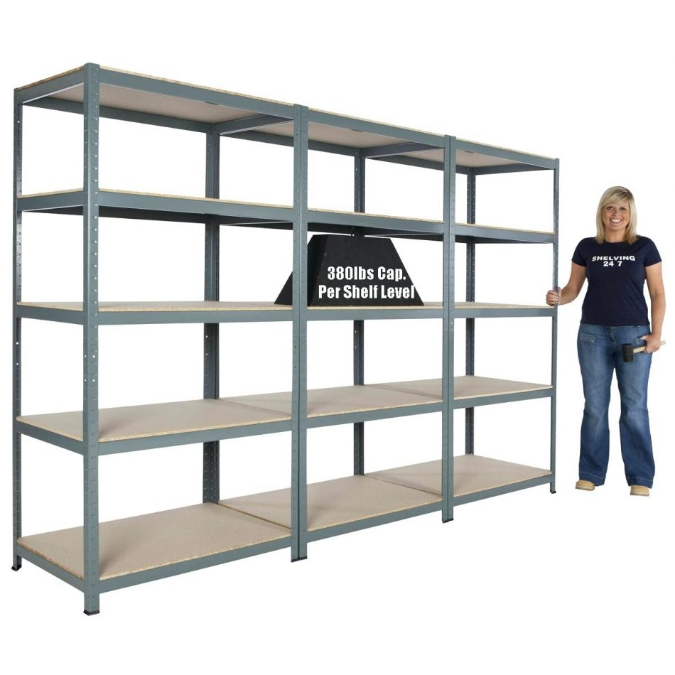 Image Of Metal Garage Shelves Ideagarage Storage Shelving Units Throughout Storage Shelving Units (#10 of 15)