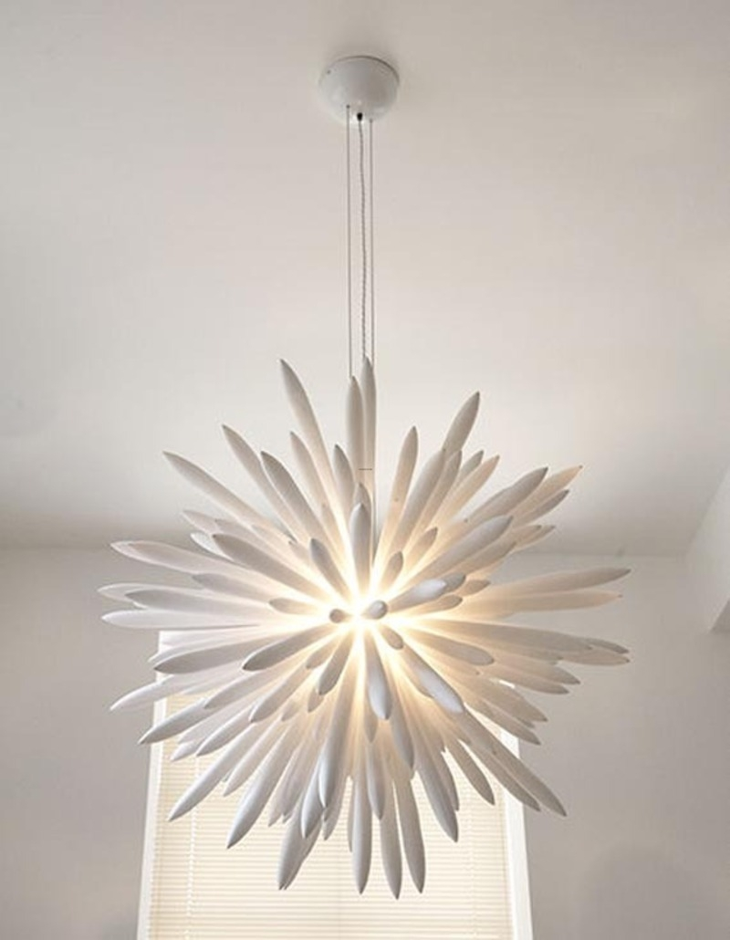 Popular Photo of Modern White Chandelier