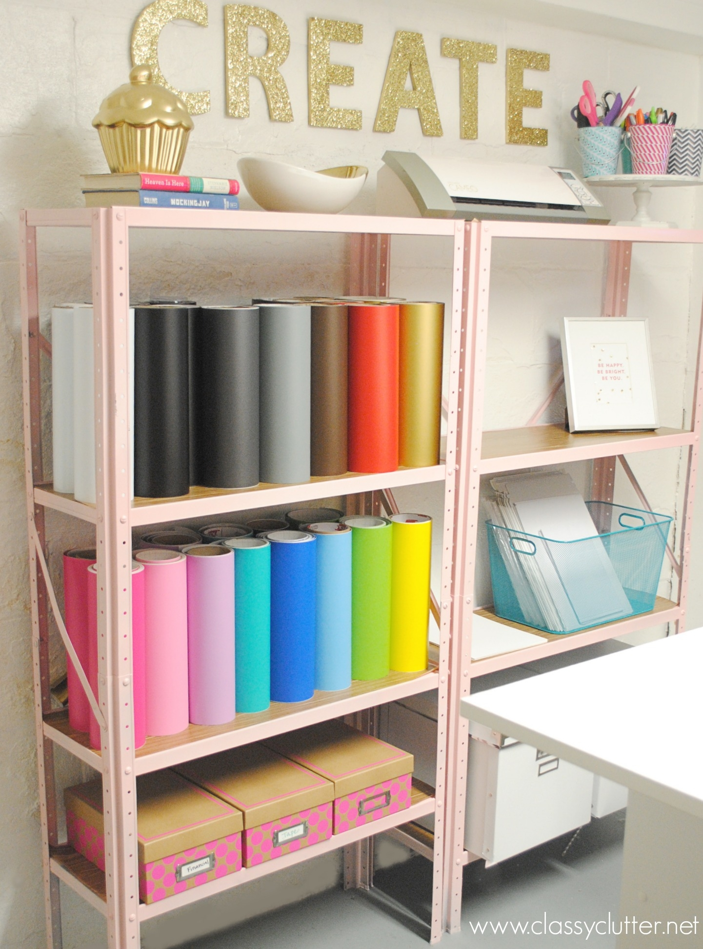 Inexpensive Craft Room Shelving Classy Clutter Pertaining To Painted Shelving Units (#7 of 15)