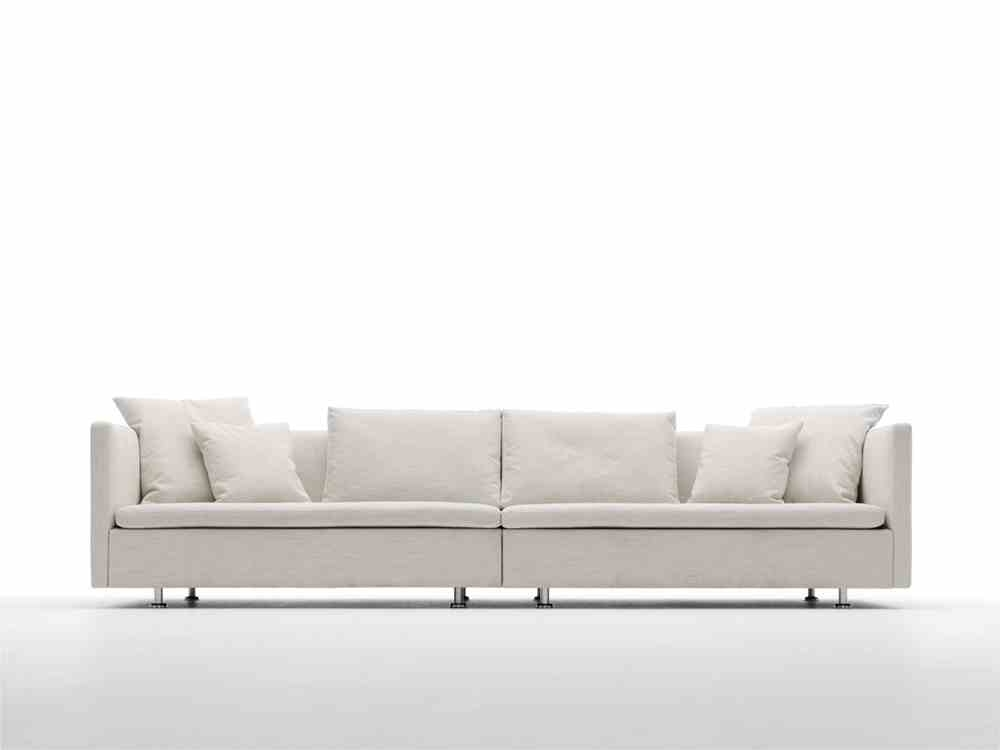 Innovative Modern Sofa White Agoston White Faux Leather Futon Intended For White Modern Sofas (#6 of 15)
