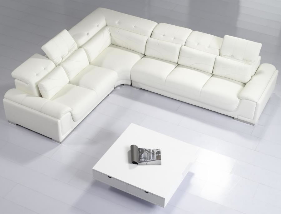 Inspirations Contemporary White Leather Sofa With Home Sofas With White Modern Sofas (#7 of 15)