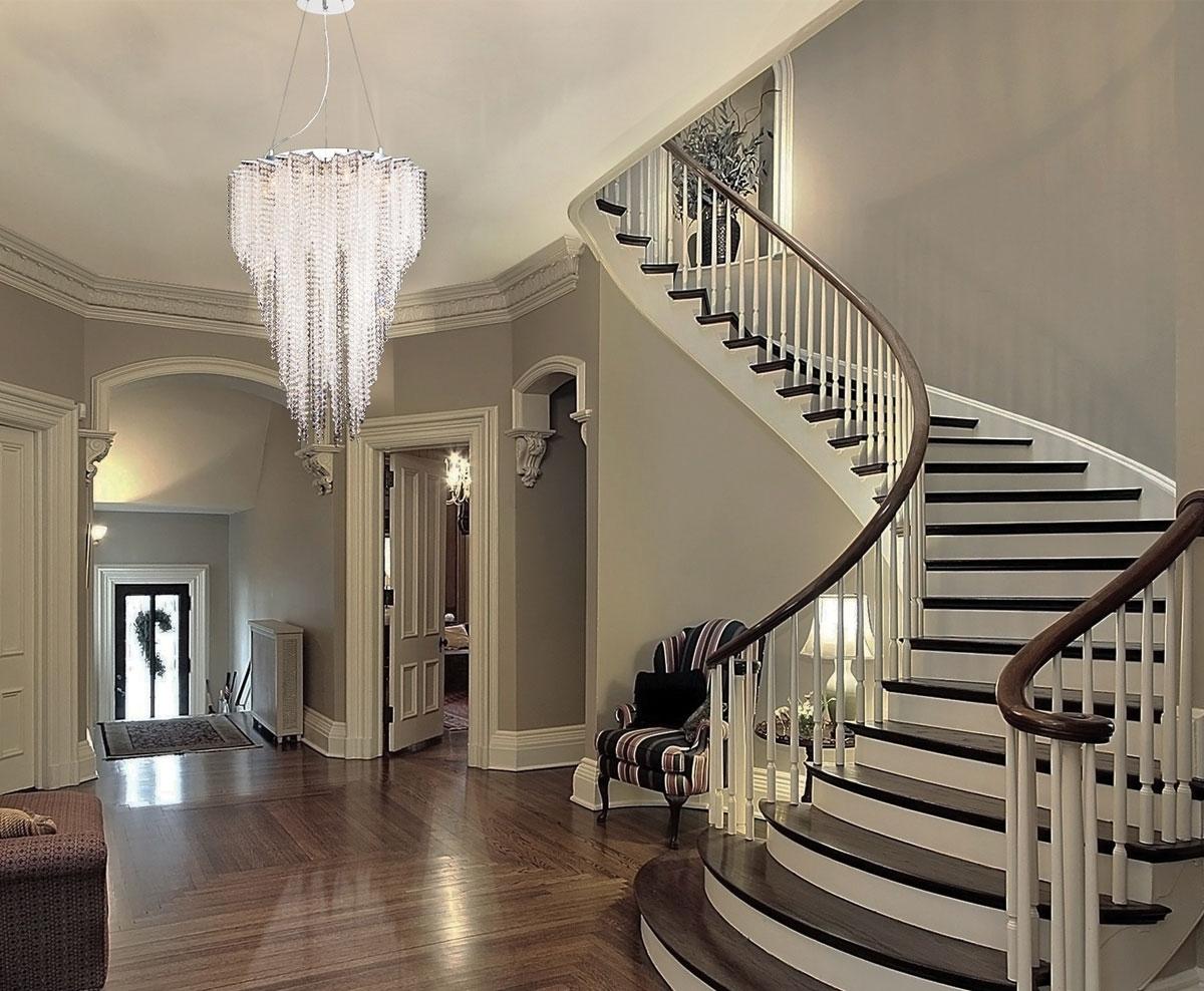 Installation Gallery Inside Stairway Chandeliers (#9 of 12)