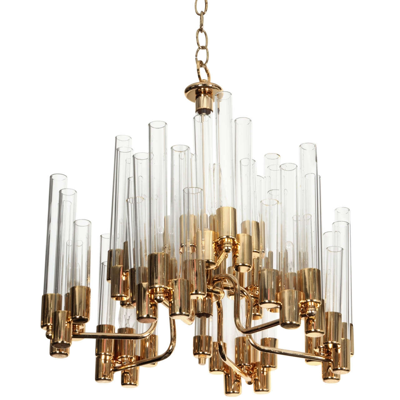 12 best ideas of simple glass chandelier for Simple glass tubes