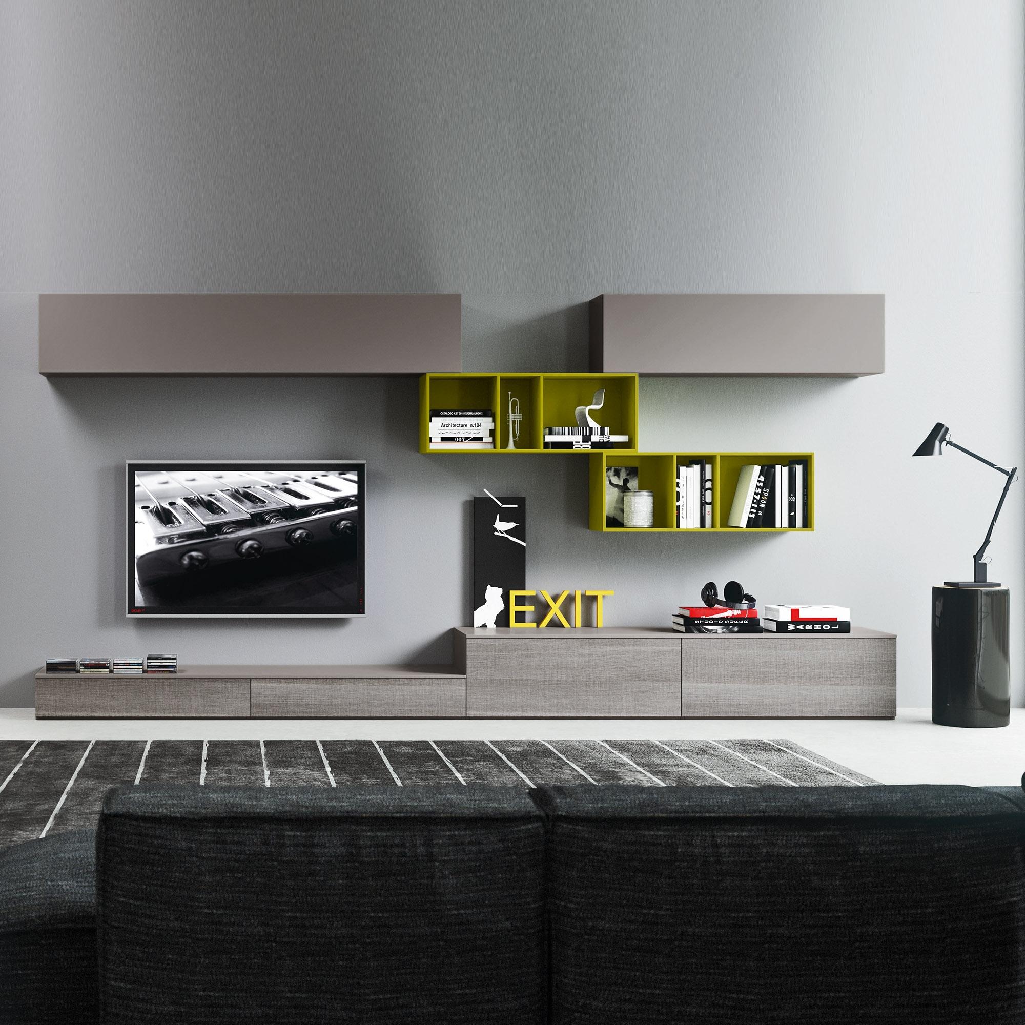 Italian Tv Unit Modern Contemporary Design 330 Cm Length At My Inside Low Media Unit (#5 of 15)