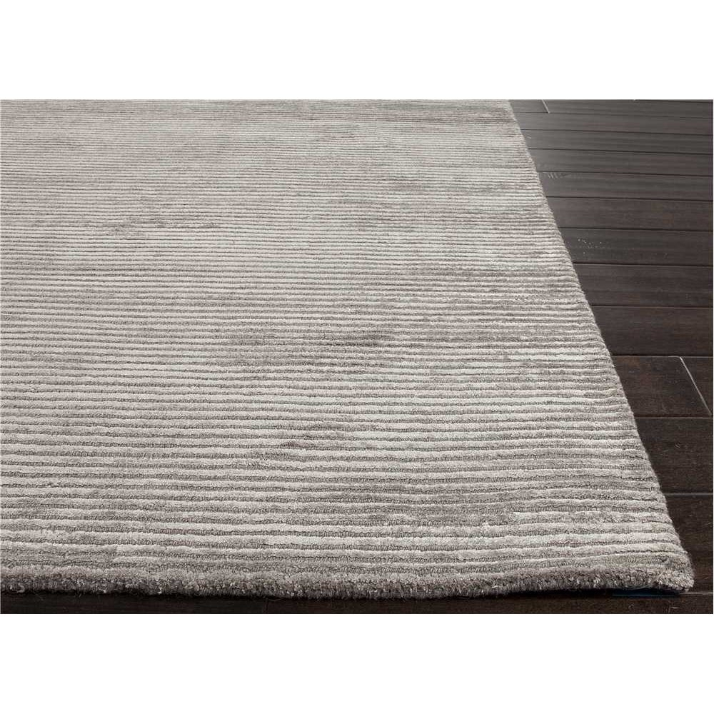 Jaipur Rug100 Basis Solid Wool And Silk Handloom Medium Gray Area In Wool And Silk Area Rugs (#4 of 14)