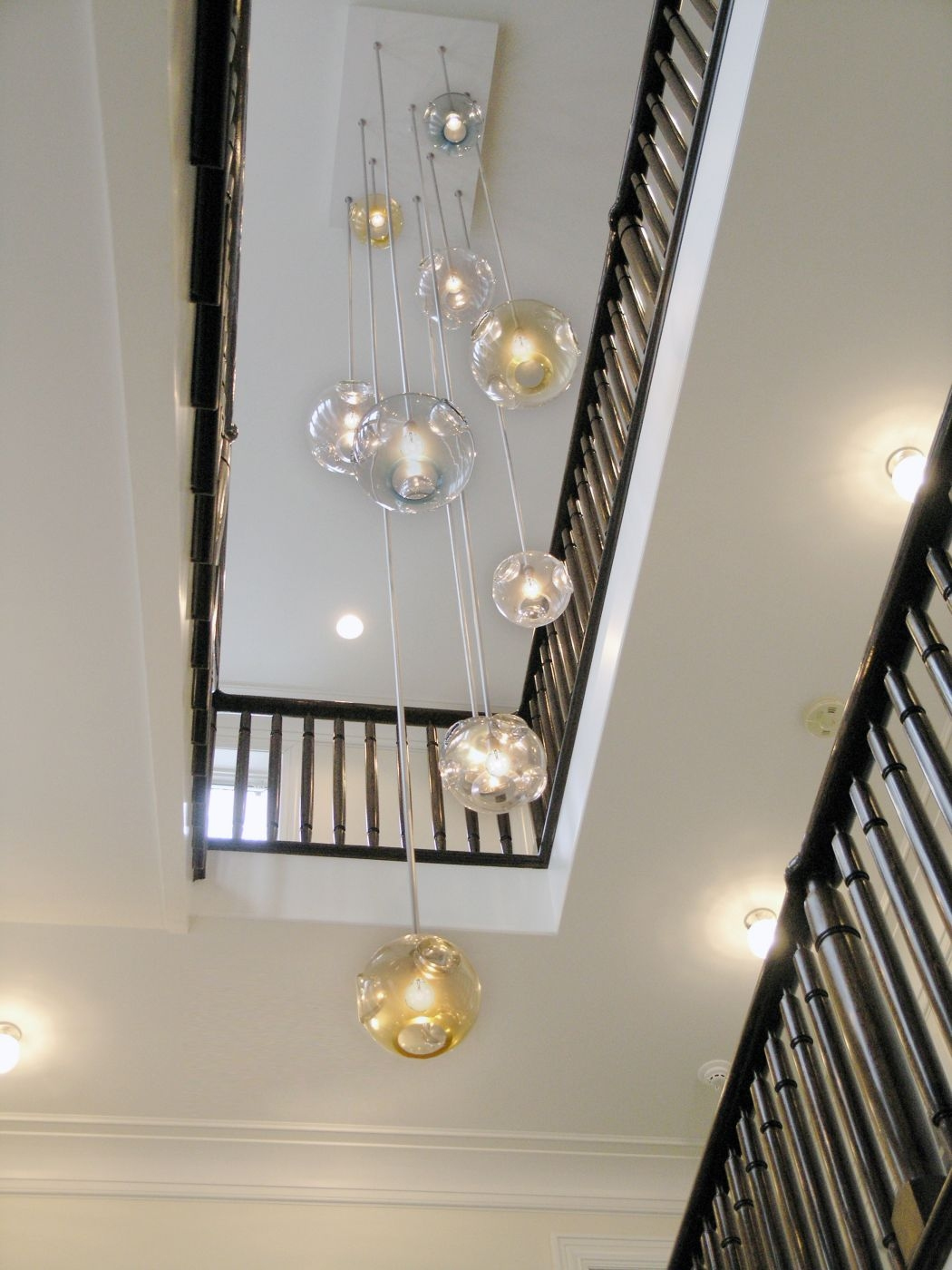 Jgooddesign Aqua Chandelier With Stairwell Chandeliers (#7 of 12)