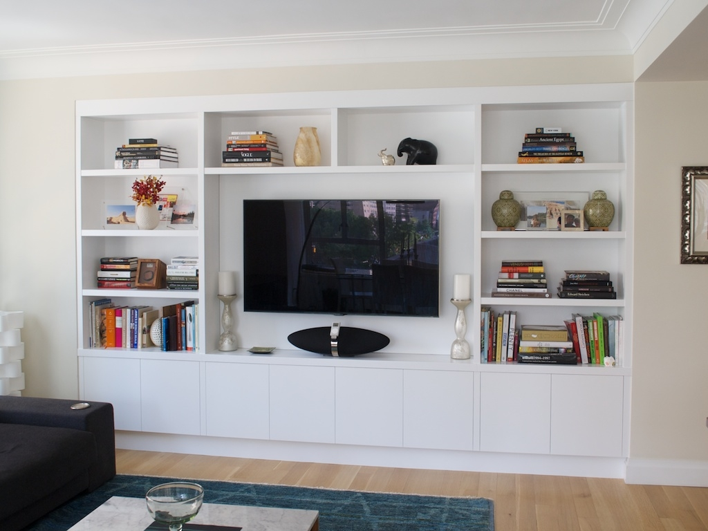 Joinery Configuration Like This To Take Up Tv Wall And Conceal All For Built In Bookshelves With Tv (#14 of 15)