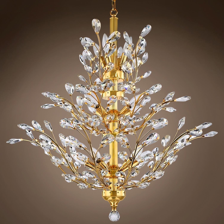 Joshua Marshal 700109 Branch Of Light 13 Light Chrome Chandelier Regarding Branch Crystal Chandelier (#10 of 12)
