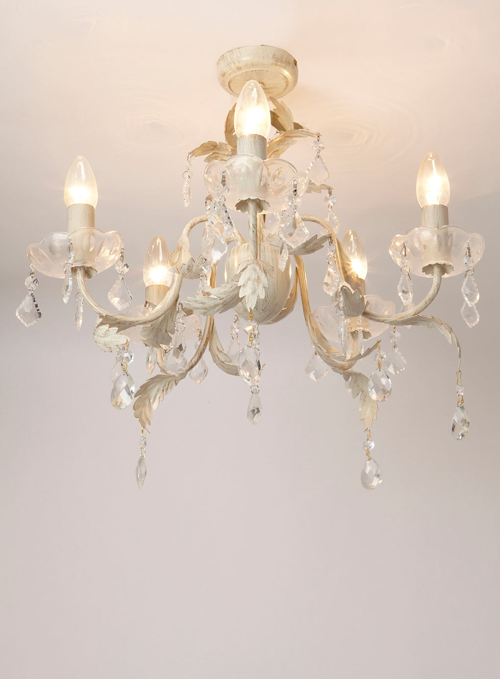 Popular Photo of Flush Fitting Chandeliers