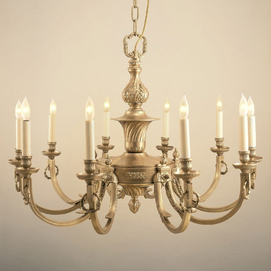 Jvi Designs 570 Traditional 32 Inch Diameter 10 Candle Antique Within Traditional Brass Chandeliers (#10 of 12)