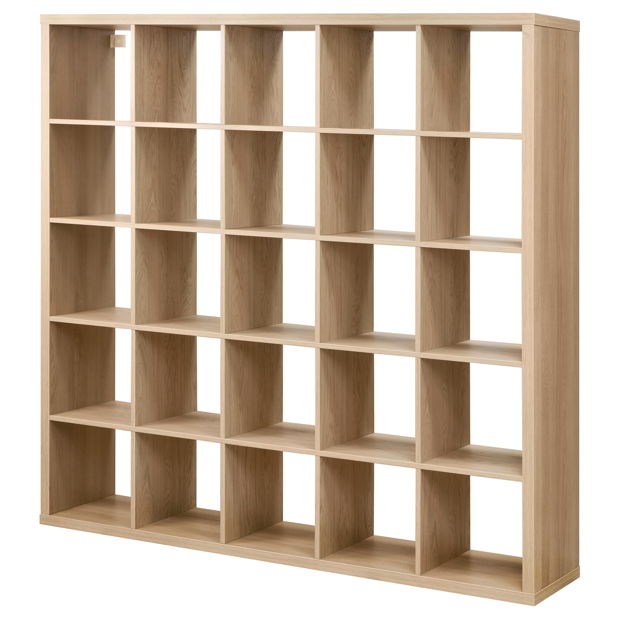 Kallax Shelving Unit Oak Effect 182×182 Cm Ikea Within Storage Shelving Units (#11 of 15)