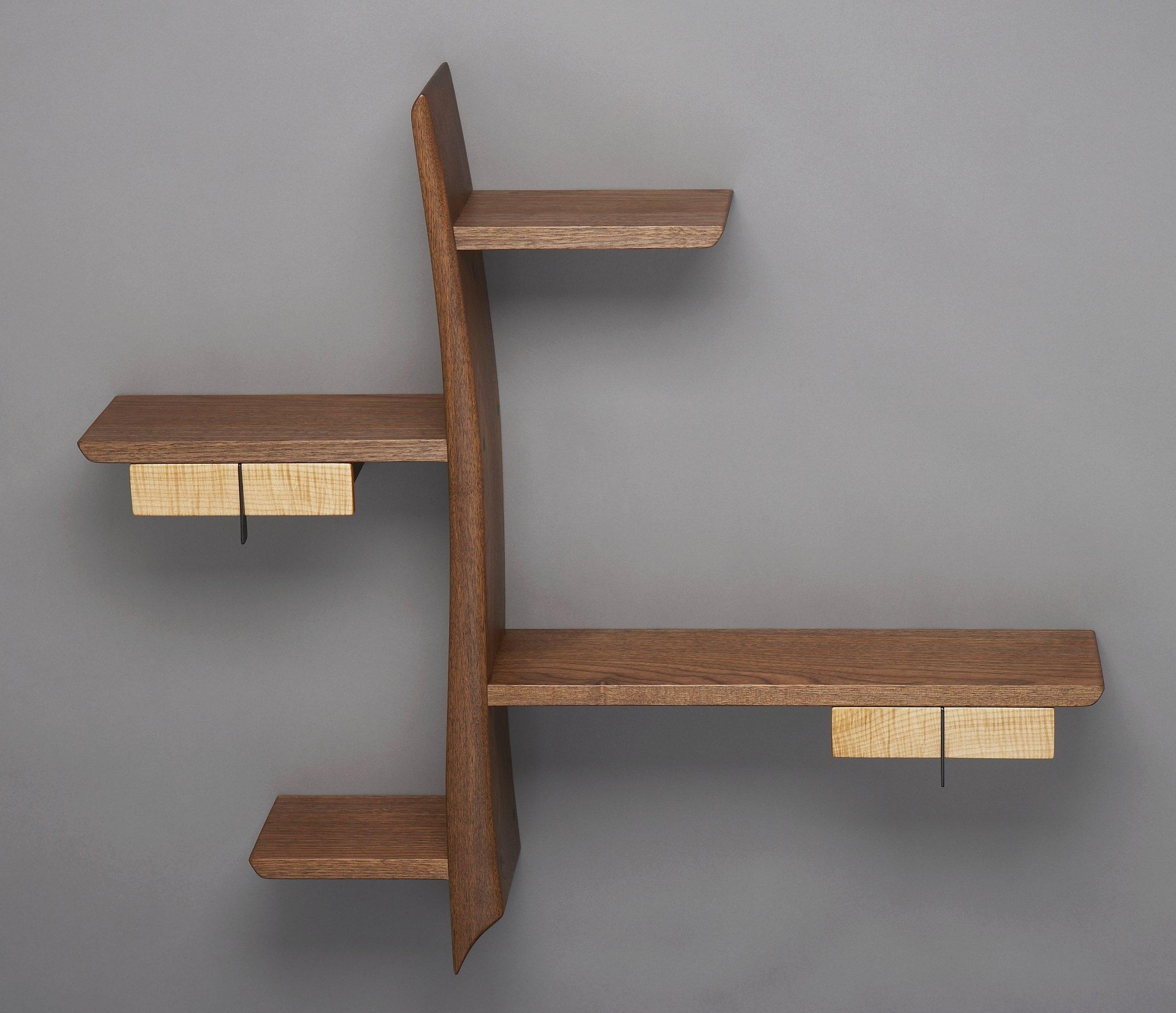 Kanji Brian Hubel Wood Shelf Artful Home For Handmade Wooden Shelves (#8 of 15)