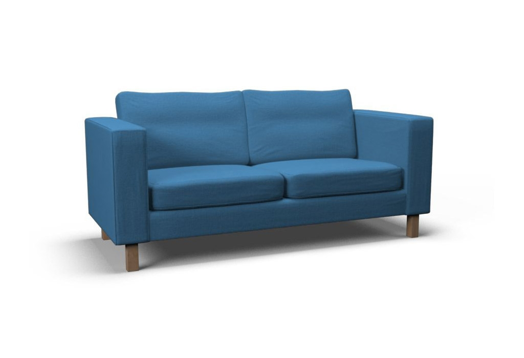 Karlstad Two Seat Sofa Cover Gaja Pacific Blue Covercouch Within IKEA Two Seater Sofas (#7 of 15)