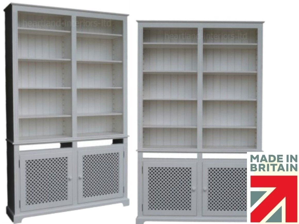 Katherine Radiator Covercabinet And Bookcase Made To Order 1105 Intended For Bookcase Cover (#12 of 15)