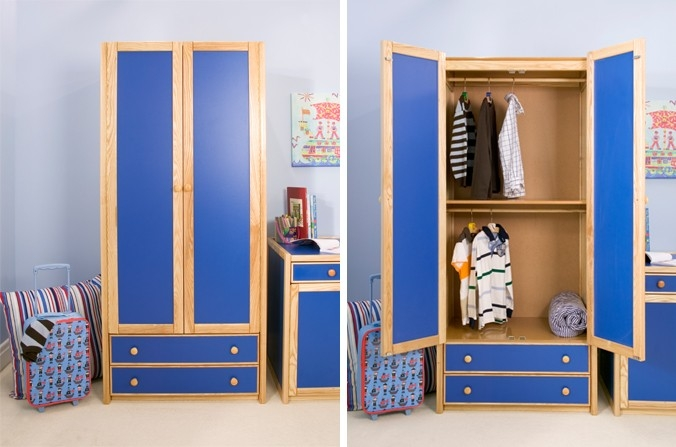 Kids Double Combi Wardrobe Also Available In White Natural Ash Within Childrens Pink Wardrobes (View 10 of 15)