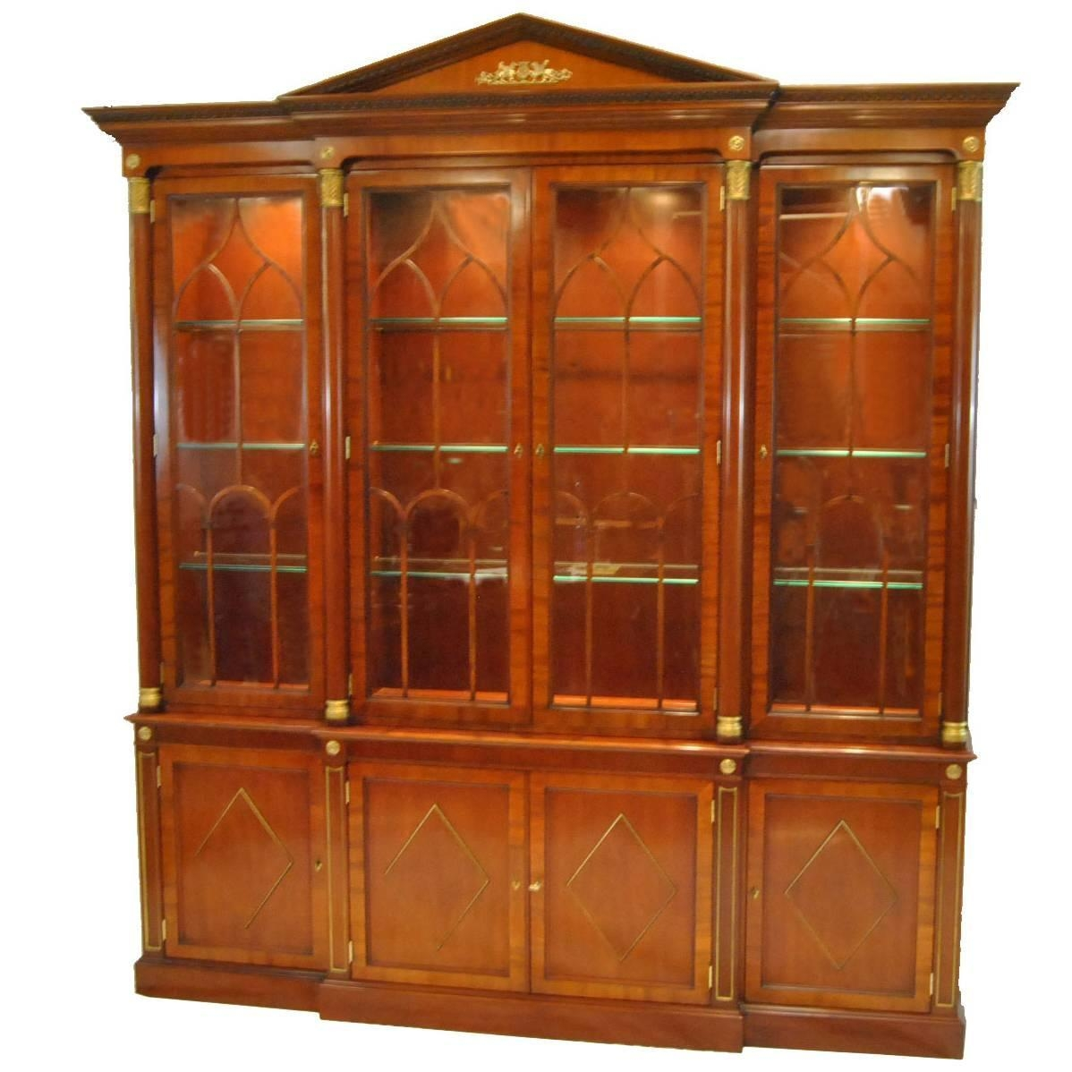 Kindel Neoclassic Mahogany Breakfront China Cabinet China In Modern Breakfront (#5 of 15)