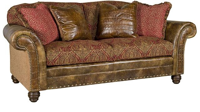 King Hickory Within Leather And Material Sofas (#6 of 15)