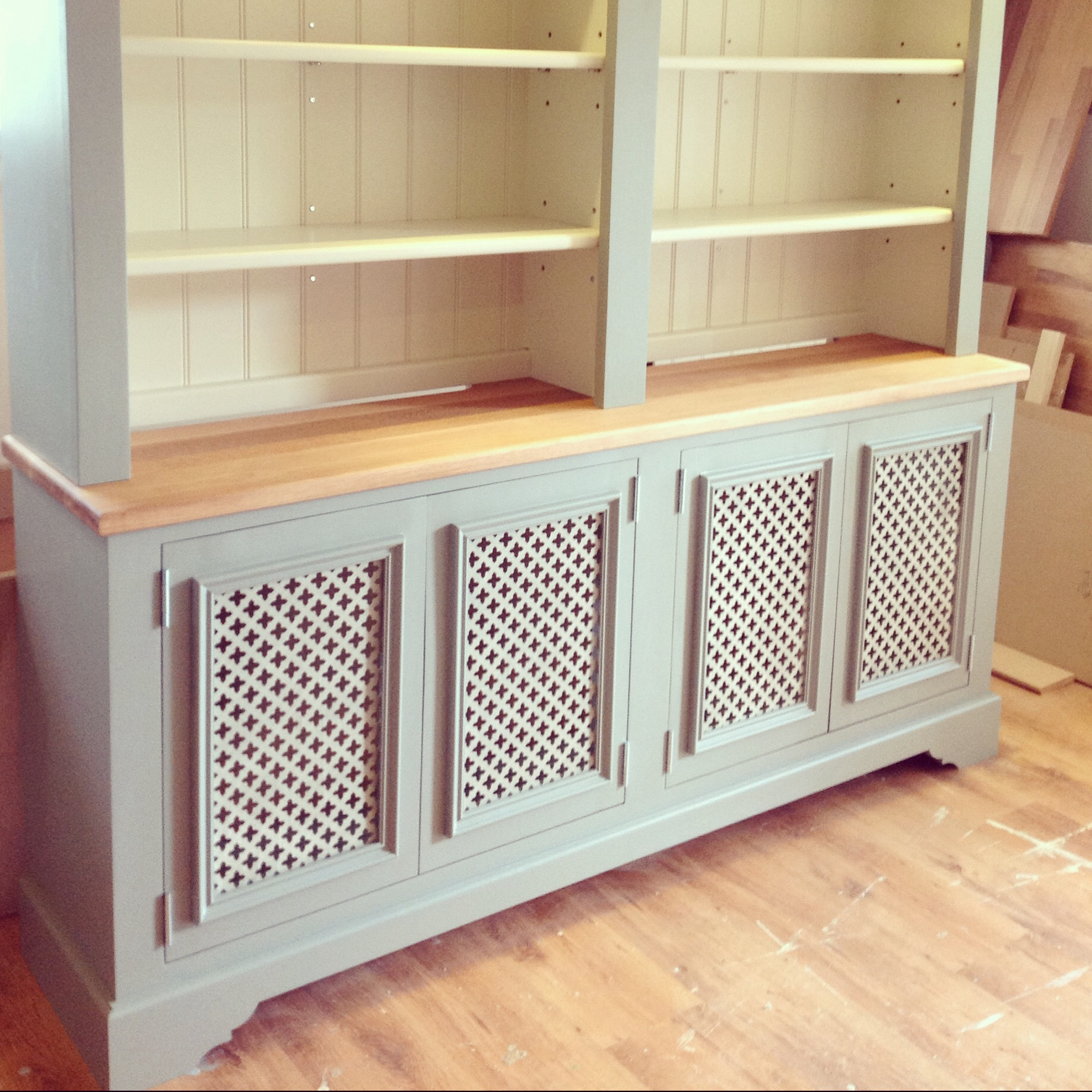 Kitchen Cabinet Covers Radiator Cabinet With Grilles In Lower With Regard To Radiator Cabinet Bookcase (#9 of 15)